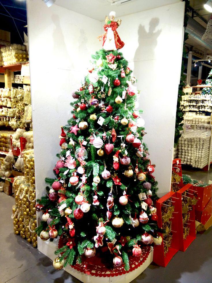 Albero di Natale Rosso Tradizionale