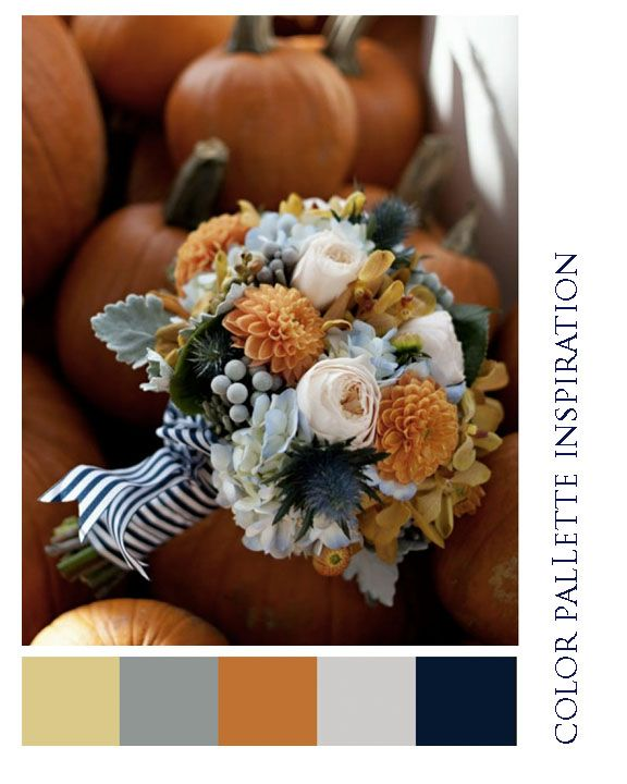 Orange blue and peach bouquet | Fall Wedding Bouquets | Wedding Flowers