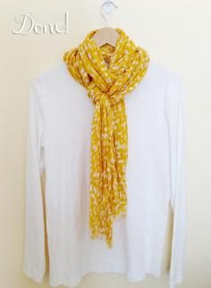 DIY Tutorial 10 Tutorials Showing How To Tie A Scarf / How To Tie A Scarf: Image Illustrated & 37 Different Ways To Tie A Scarf Video - Bead&Cord
