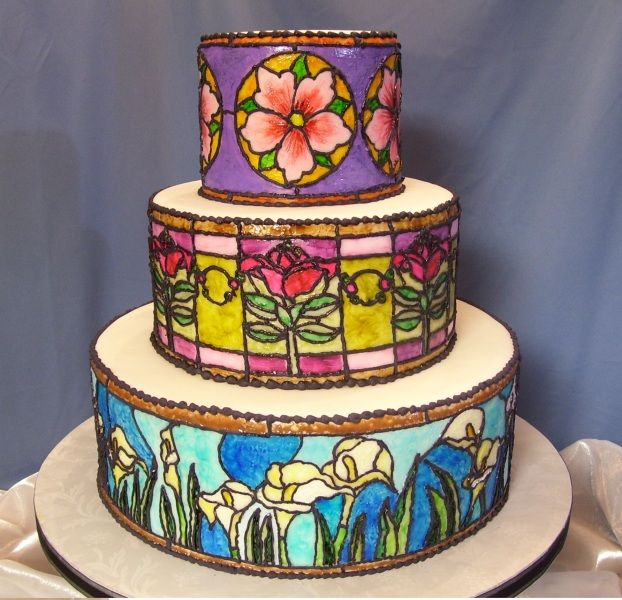 Stained glass technique: Cakes Ideas, Glasses Cakes, Amazing Cakes, Cakes Decor, Cakes Stained, Eating Cakes, Cakesbirthday Ideas, Glasses Techniques, Stained Glasses