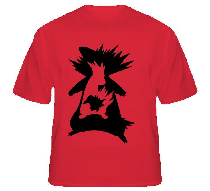 Cyndaquil Quilava Typhlosion Pokemon Evolution T Shirt