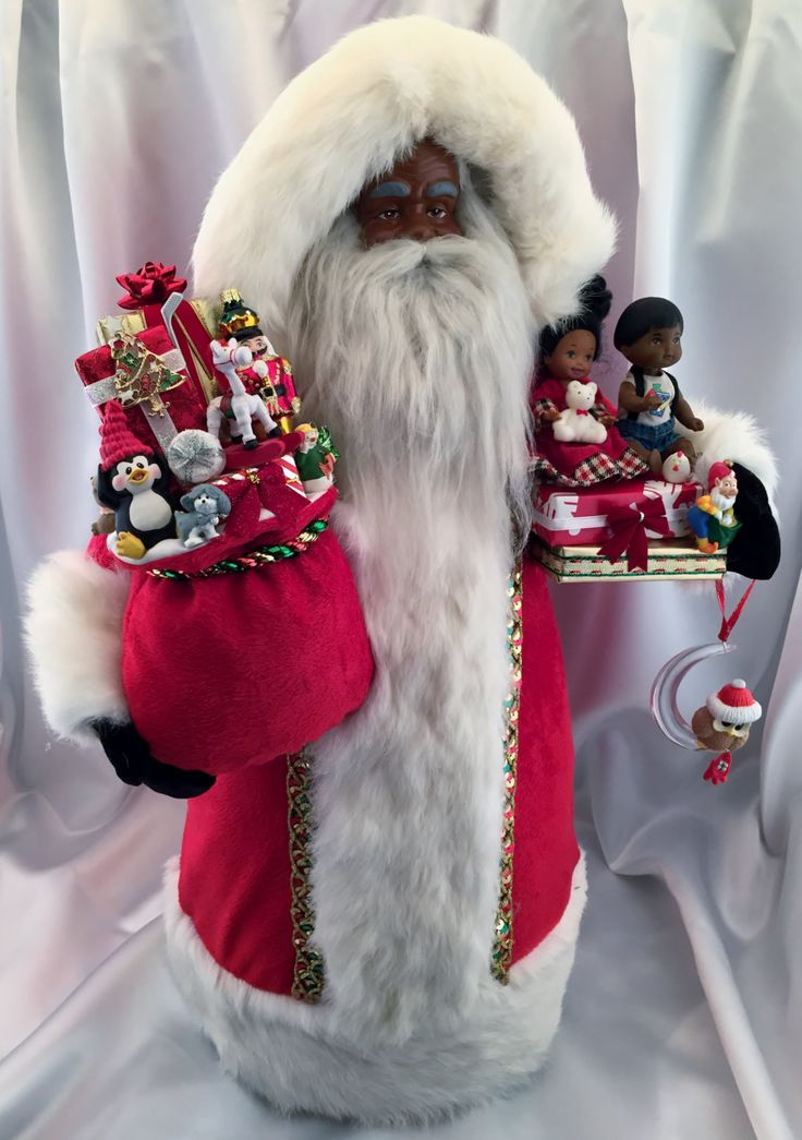 African american santa claus quot tall pinned by