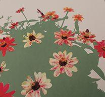 """Suzie Smith, Found Garden, 2014. Screen print, 22″ x 22."""" Valued at $300."""