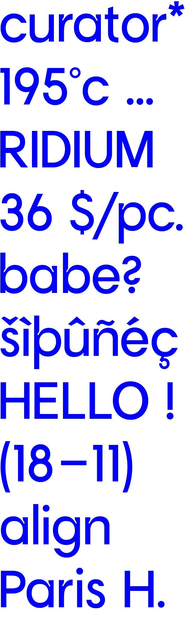 Curator Typeface —Engelbreckt