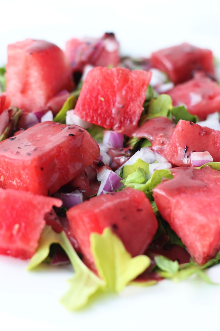 This Watermelon Arugula Salad is a great dish to bring along to a summer BBQ and is simple to make. I love throwing this salad together for a weekday lunch sometimes too!