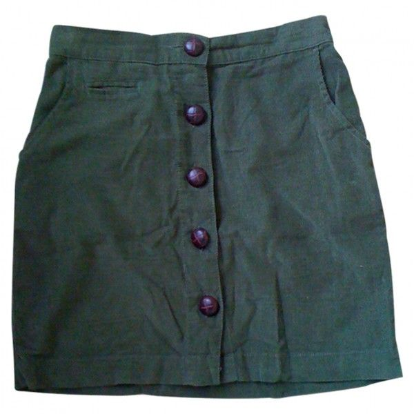 Pre-owned URBAN OUTFITTERS Khaki Suede Skirt ($43) ❤ liked on Polyvore featuring skirts, bottoms, urban outfitters, khaki skirt, suede skirt and urban outfitters skirts