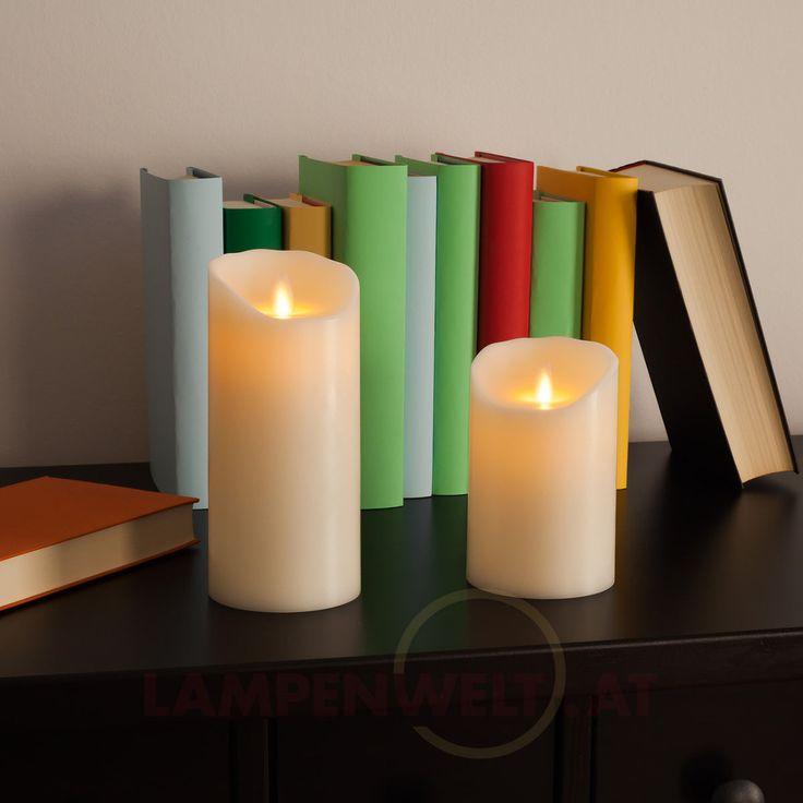 Nicht nur zu #Weihnachten, zum #Geburtstag oder anderen festlichen Anlässen ein stimmungsvolles Deko- und Stilelement -  schönste #LED - #Echtwachskerzen schenken gemütliches #Licht und das ganz ohne Brandgefahr oder nervige Ruß- und Wachsflecken.