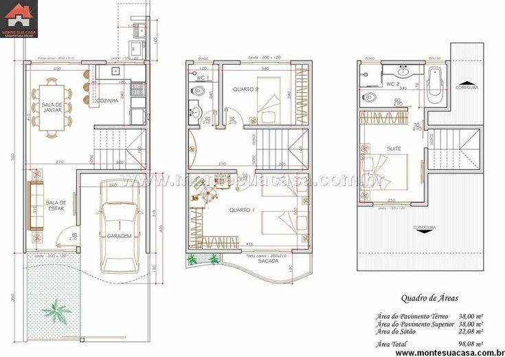M s de 1000 im genes sobre casas y planos en pinterest - Planos de casas de pueblo ...