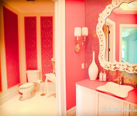 69 best diy decor images on pinterest home ideas good for Pink and orange bathroom ideas