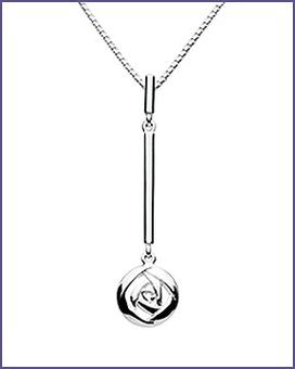 Rennie MacIntosh rose pendant