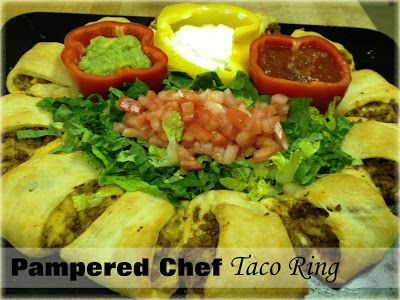 Pampered Chef Taco Ring Recipe - Mommy's Fabulous Finds
