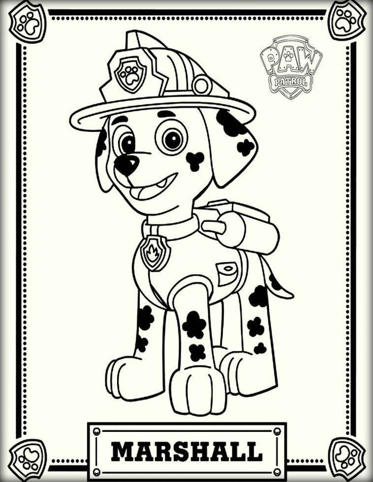 Marshall Paw Patrol Coloring Page Youngandtae Com Paw Patrol Coloring Pages Paw Patrol Coloring Birthday Coloring Pages