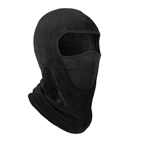 OMECHY Balaclava Windproof Ski Mask Outdoor Cold Weather Face Mask Motorcycle Neck Warmer Tactical Hood Black Mesh One size