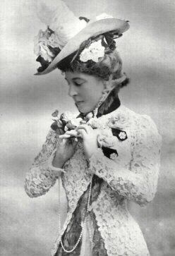 Anne's character is Lilly Langtree, famous saloon gal and song bird