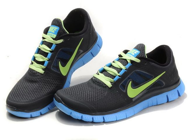 2013 Nike Free Run 3 Mens Black Jade Green #Black #Womens #Sneakers