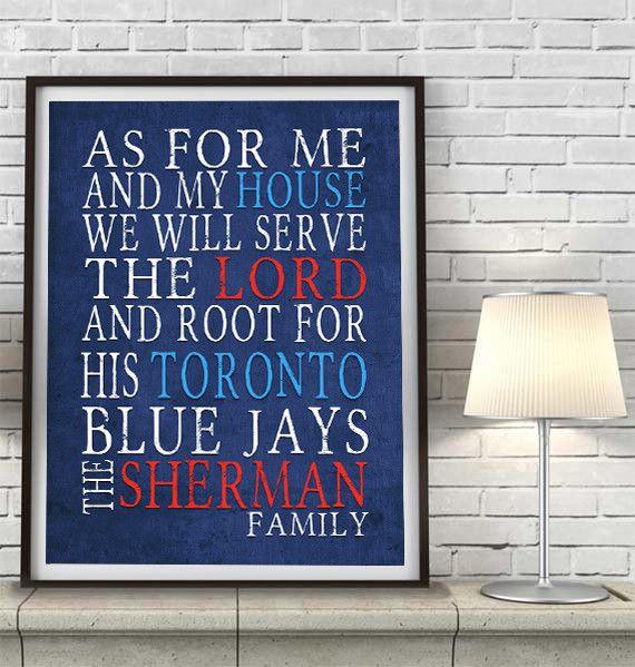 "Toronto Blue Jays baseball inspired Personalized Customized Art Print- ""As for Me"" Parody- Unframed Print"
