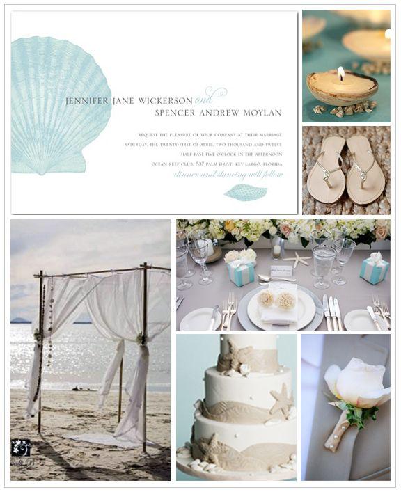 Beach Wedding Inspiration Board #weddings