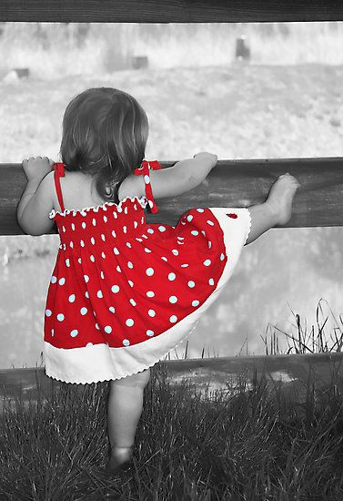 a touch of red polka dots little girl red dress toddler kid summer look