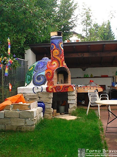 Mosaic outdoor oven We could add mosaic? Or traditional paint? Or something!: