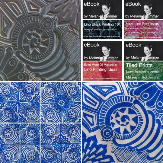 Online course ... lino block prints on cloth for beginners