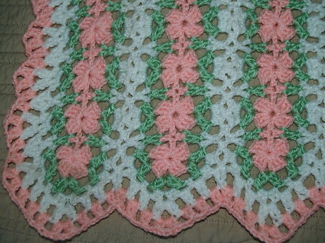 Crochet Patterns Mile A Minute : ... : Pink Petals Mile a Minute Baby Afghan pattern by Valerie Fuller