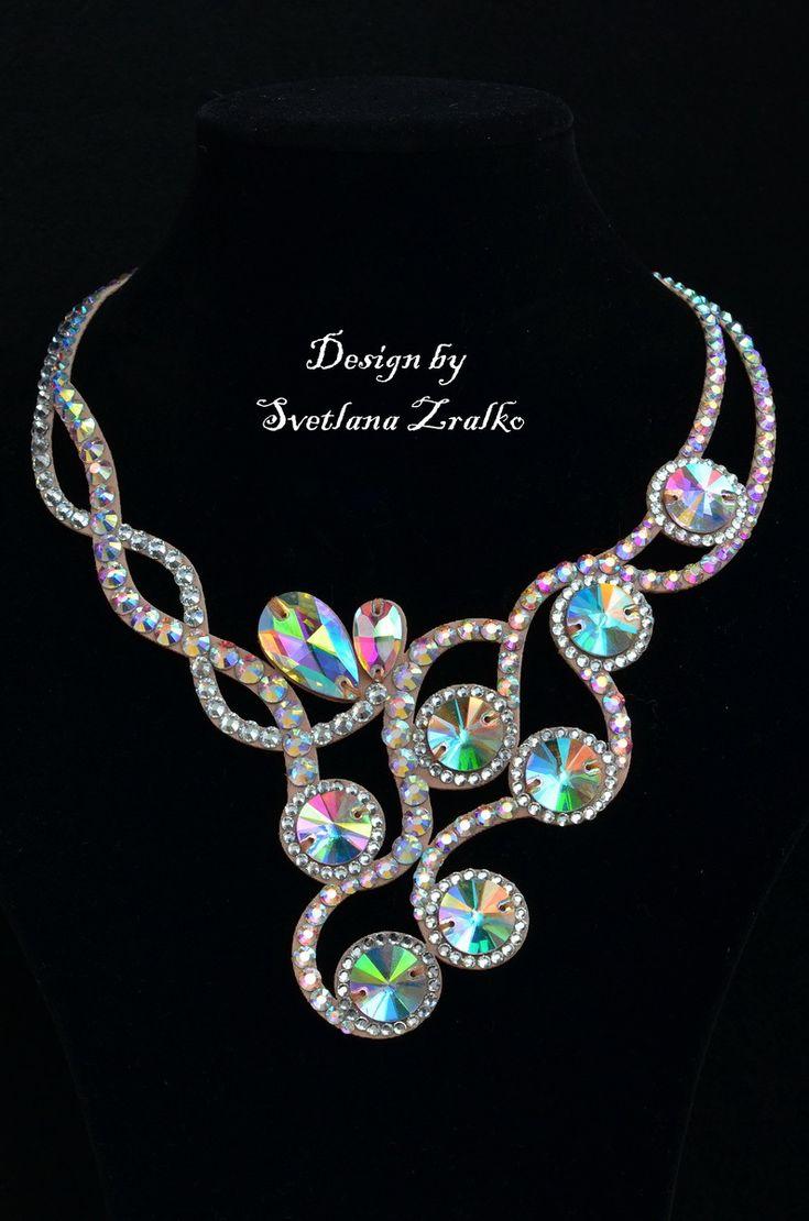 necklace design crystal