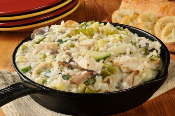 We Love One-Pot Dinner Recipes, And This Creamy Chicken & Mushroom Risotto Is One Of Our Favorites!