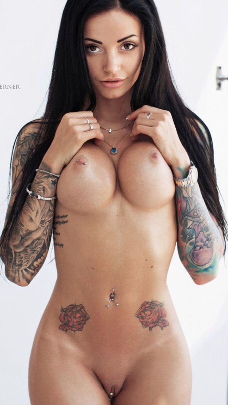 woman tattoos nude sexy masterbating