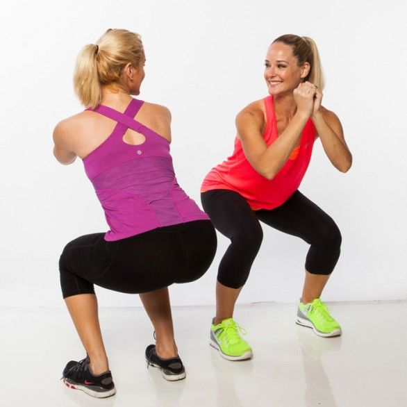 Body weight workout routine to do with a best friend
