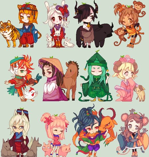 Zodiacal Chibi Animal Girls