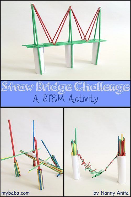 Challenge children to build a bridge using only paper straws, paper and tape in this STEM project.