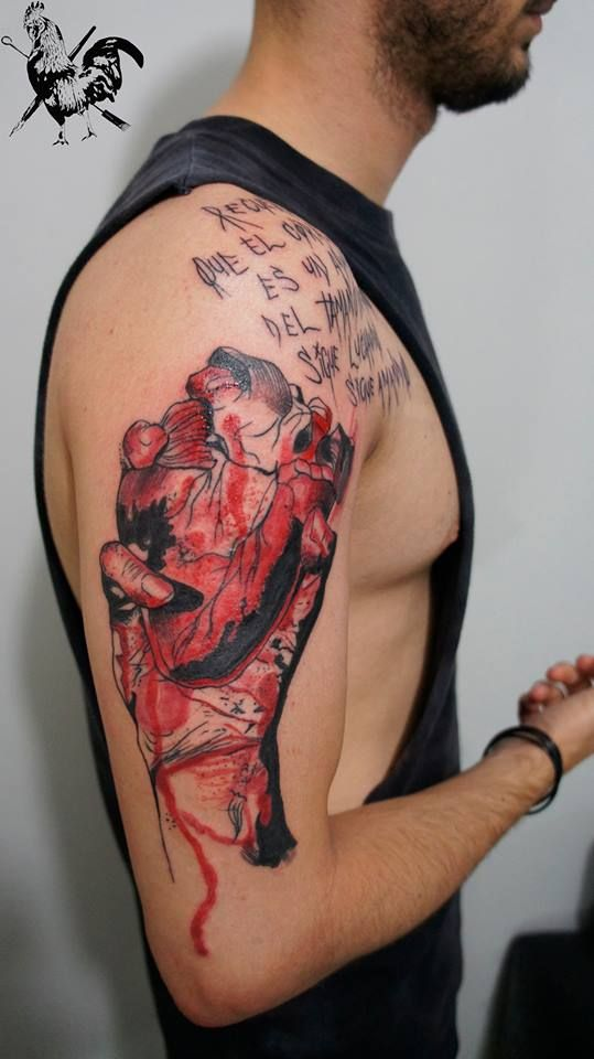 El corazon Tattoo by : Diego Rodrigues