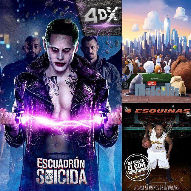 Los estrenos que nos trajo @CinexVe hoy están que arde! #EscuadrónSuicida #LaVidaSecretaDeTusMascotas y #4Esquinas serán las protagonistas de esta semana Con cuál vas primero? Lee más al respecto en http://ift.tt/1hWgTZH Lo mejor del Cine lo disfrutas #DesdeLaButaca Siguenos en redes sociales como @DesdeLaButacaVe #movie #cine #pelicula #cinema #news #trailer #video #desdelabutaca #dlb