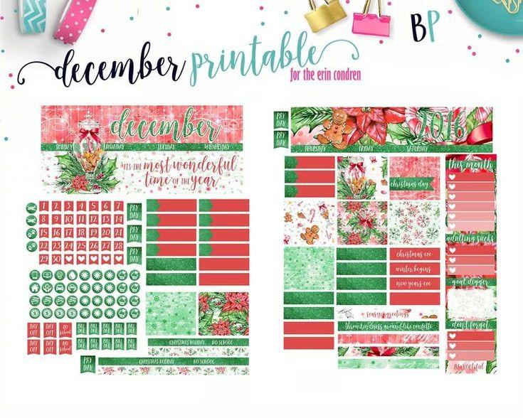 Free planner printable Christmas