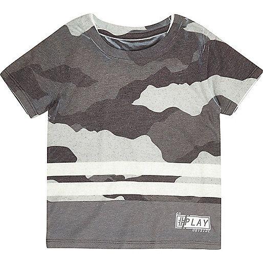 adidas Originals CAMOUFLAGE DIP-DYED - T-shirt imprimé - black/dark grey Grande Vente Manchester À Vendre Coût Pas Cher HtlKqqJZ