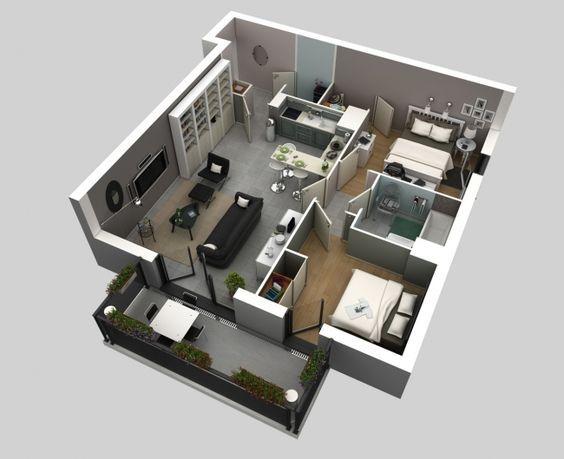 56 best house plans images on Pinterest Little house plans, Small - plan maison plain pied 80m2