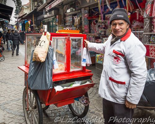 Street Food vendor, in Istanbul, turkey
