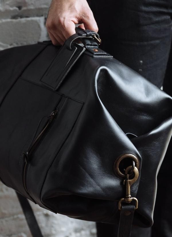 We don't have to tell you this, but the type of handbag you carry says a lot about your sense of sty Backpack Bags, Duffle Bags, Weekender Bags, Messenger Bags, Travel Backpack, Leather Men, Black Leather, Leather Bags For Men, Vintage Leather
