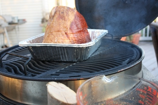 how to cook a spiral ham on the bbq