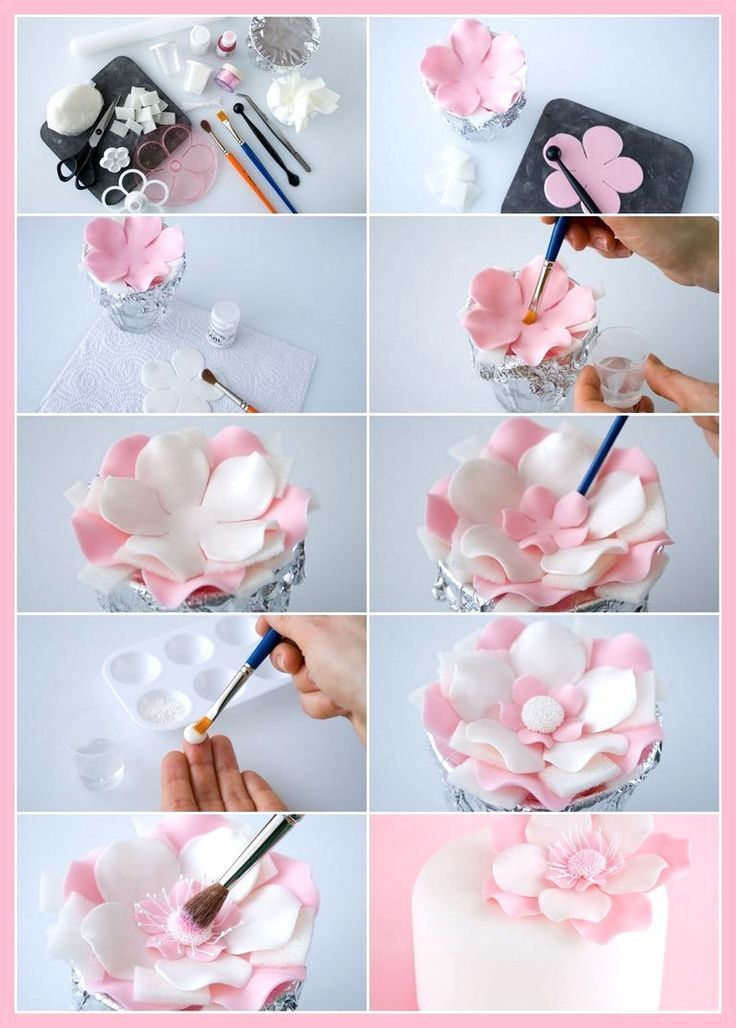 All Time Easy Cake Simple Cake Fondant Simple Fondant Cakes Cakes Fondant Simple Fondant Flower Tutorial Fondant Cake Designs Simple Fondant Cake