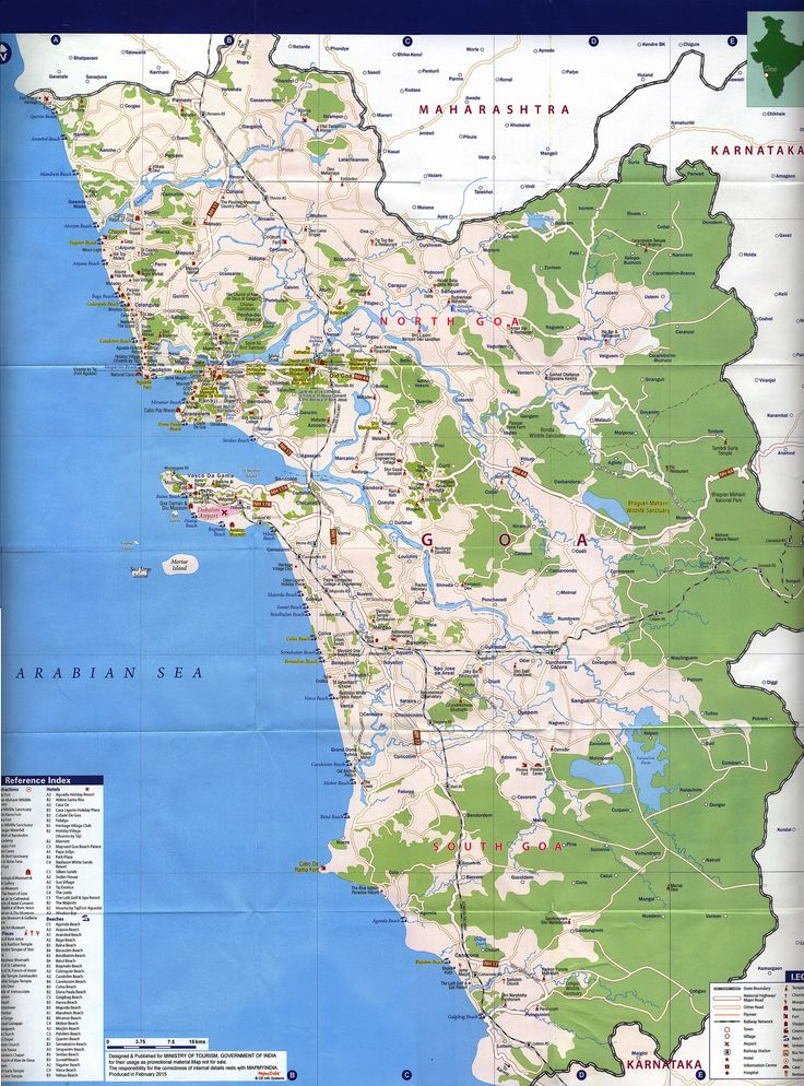 https://flic.kr/p/FBRNwh | Goa City Map, Must see Sites; 2015_2 map, India | tourism travel brochure | by worldtravellib World Travel library