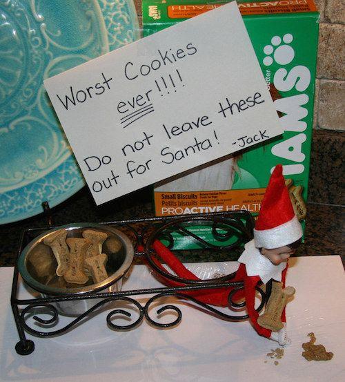 101 Elf on the Shelf Ideas Wish I had a dog lol