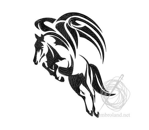 Pegasus Tattoo Machine Embroidery Design Instant Download
