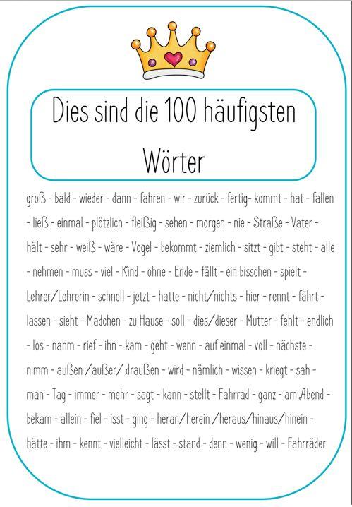 Rechtschreitraining 100 Wörter – Rechtschreibkönig – grundschulteacher-shop