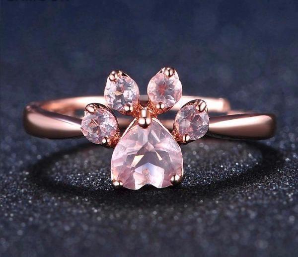 Paw Prime Paw Prime Rose Quartz Ring