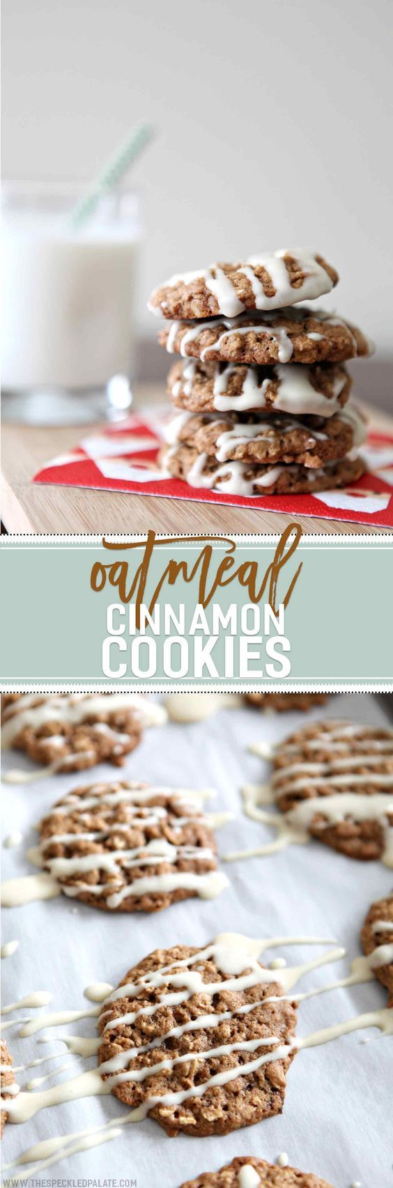Oatmeal Cinnamon Cookies with Maple Cream Cheese Glaze | Recipe