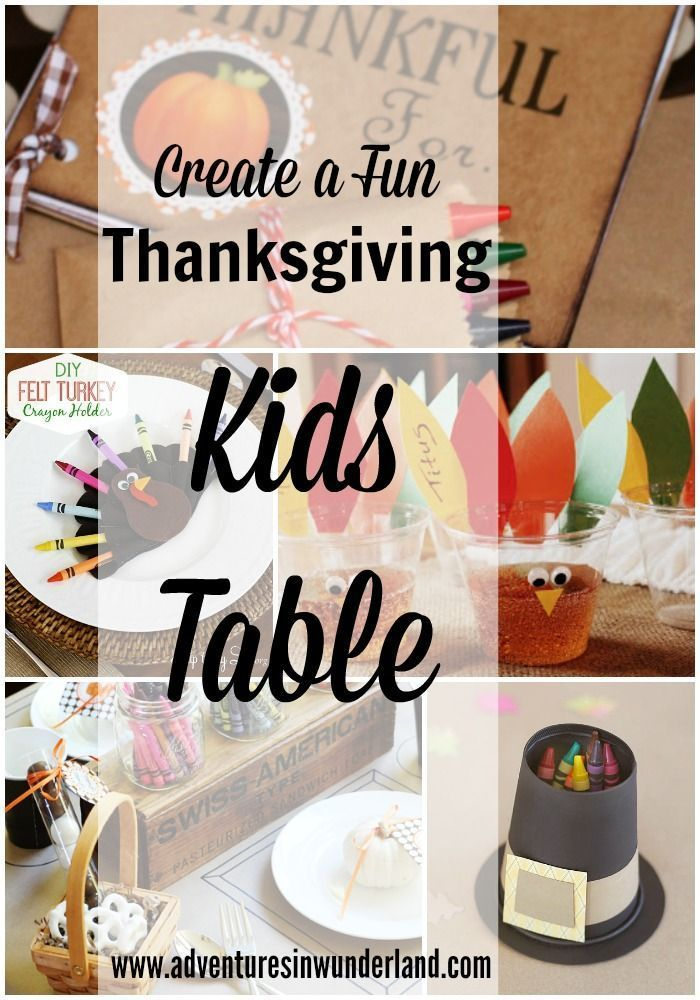 Thanksgiving Kids Table Ideas Crafts Activities And