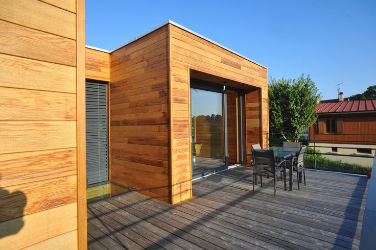 Honka Fusion home in France. Hoka log homes.