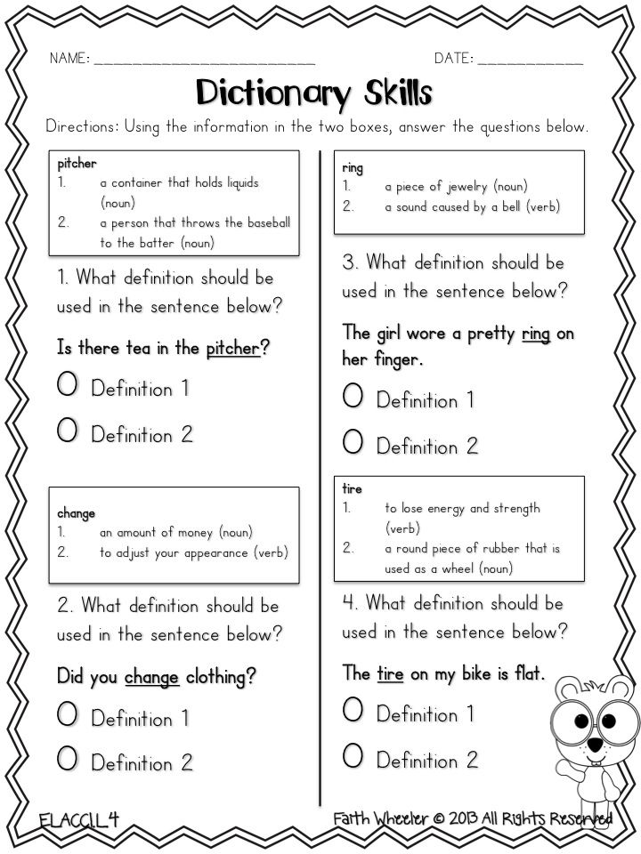 Worksheets Dictionary Skills Worksheets 25 best ideas about dictionary skills on pinterest grammar freebie pick the correct definition