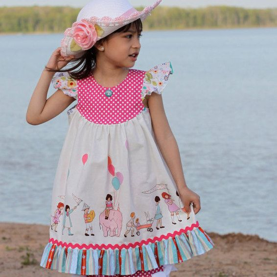 Girls Dress Pattern with Flutter Sleeve  How to Sew by tiedyediva, $7.95